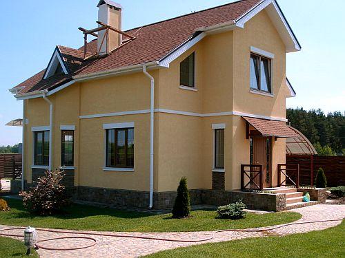 Дом построенный из газобетонных блоков