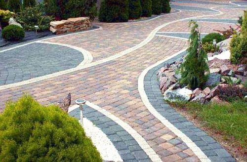 Тротуарная плитка в ландшафтном дизайне.