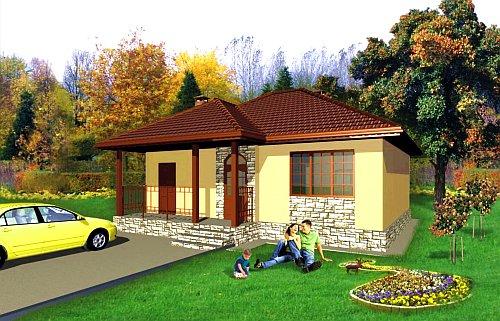 Дачный домик из SIP панелей S= 77,62 кв. м. Стоимость строительства от 990 000 руб.