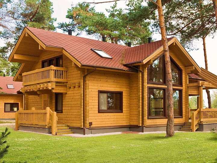 Дом из клееного бруса фото